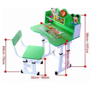 Cheap children desk and chairs  student study table chair set school furniture cheap kids study table and chair adjustable