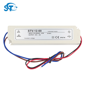 Shenzhen Factory Ultra Slim 60W 12V outdoor transformer ip68 waterproof led driver for led lighting with CE EMC LVD RoHS