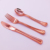 Flatware Set Heavy Duty Disposable Plastic Silver Cutlery Set And Rose Gold Plastic Cutlery for Parties