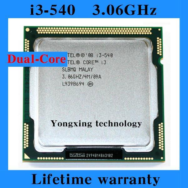 Lifetime warranty Core i3 540 3 06GHz 4M Dual Core desktop processors CPU Four threads 540