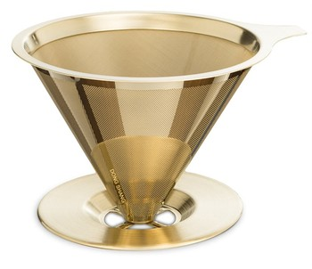 Paperless pour over coffee dripper stainless steel reusable coffee filter micron