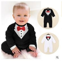 Baby boy suit The latest version of the gentleman ha garments Spring model climb clothes toddle