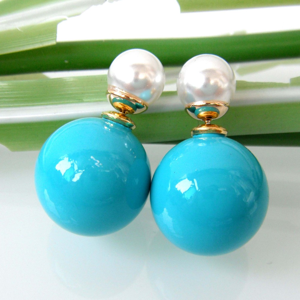 Double Pearl Earrings Promotion Shop For Promotional