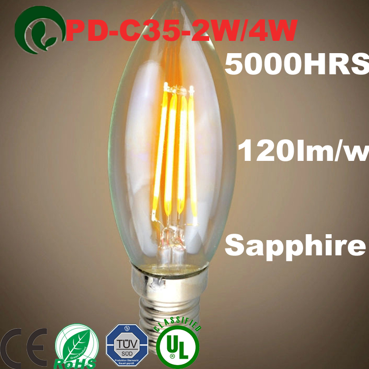 10pcs Replace 40W LED Filament light E14 Style AB 4W 8W AC220V bulb lamp LED candle