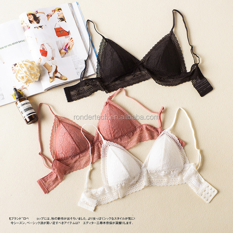 7f0126d71b3b2 Floral lace Sheer Bralettes LACE BRALETTE lacy Triangle Bra Bras Bustier  crop top padded Mesh Lined