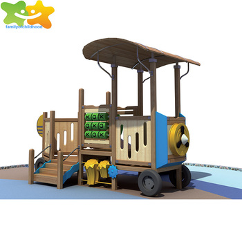 Qingyuankids cubby house wooden outdoor play slide for sale