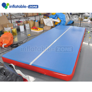 High quality Red and blue inflatable mattress tumbling crash pad, durable gym inflatable air mat