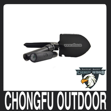 Outdoor survival folding shovel with compass for camping and hiking
