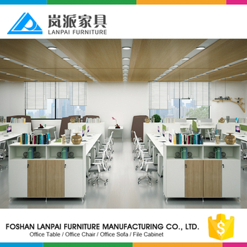 china modular partition clerk table staff desk for workstation for 8 person
