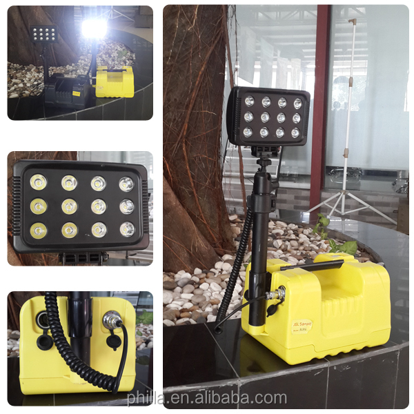 36w Battery Powered Led Light Tower,Rechargeable Led Work