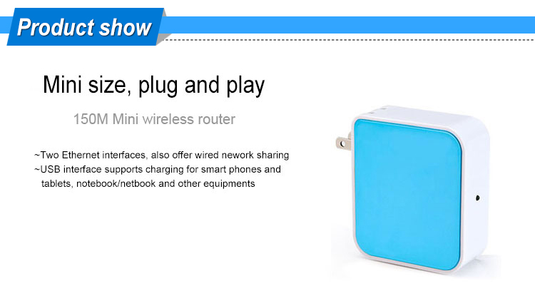 Home Portable 150Mbps 192.168.1.1 Wireless Router Mini Router