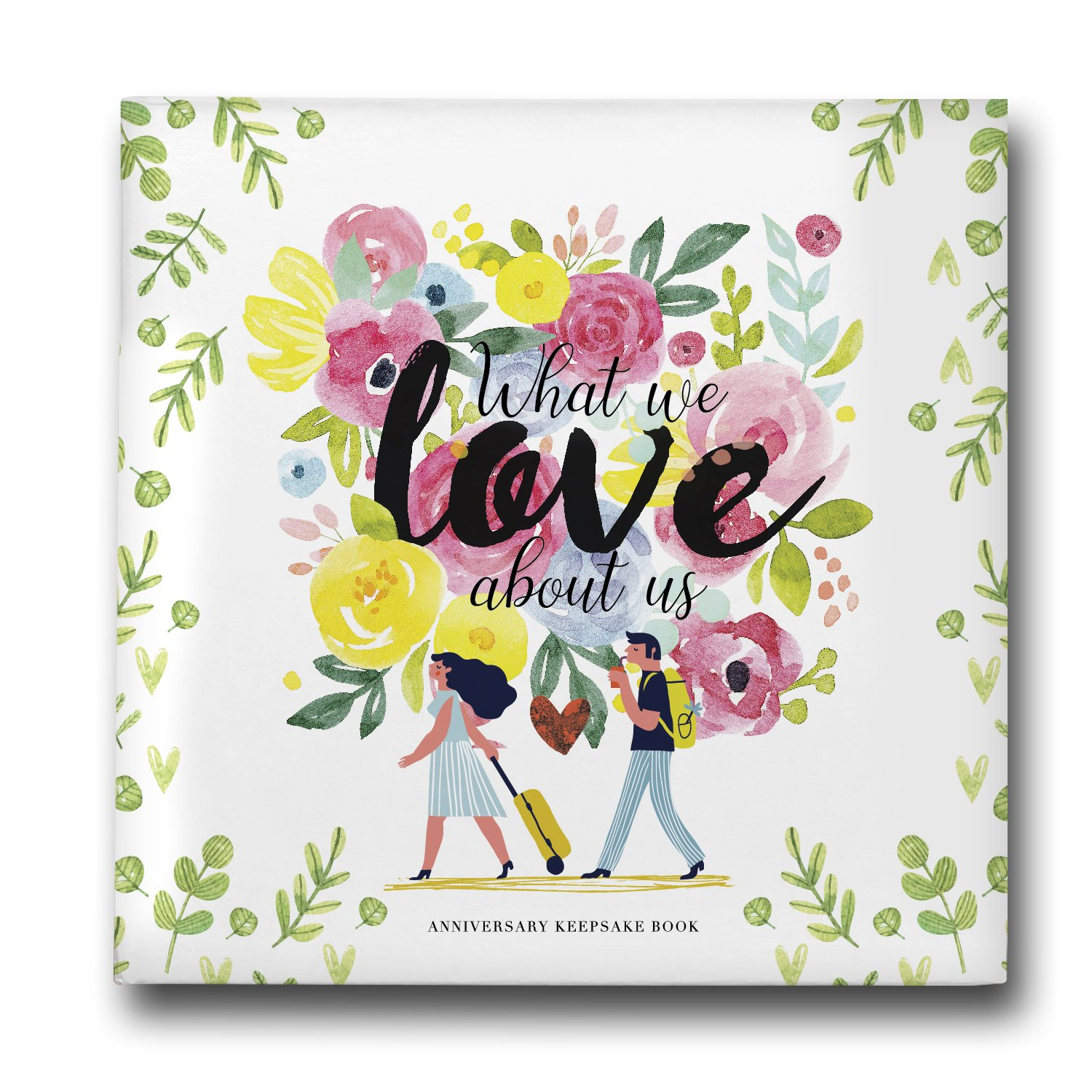 Pillow & Toast Our 1st Wedding Anniversary Journal: Memory Book & Photo Album for Couples. Fill in Diary for Proposal, Wedding Day and Milestones. Bride Gift Ideas 2018!
