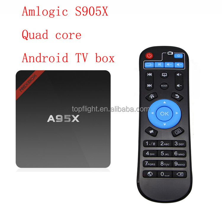 Amlogic S905X Quad Core Android 6.0 Smart TV Best IPTV 4K 2.4GHz WiFi Smart Set Top Box A95X TV Box