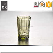 Crystal Embossed Water Pitcher Glass Cup in Diamond Pattern
