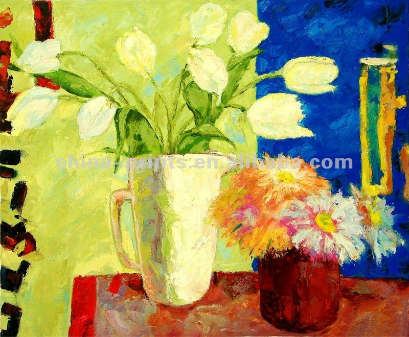 Flowers Impressionist Lilies Oil Painting,Art Prints