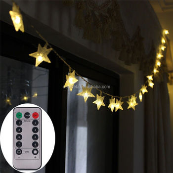 [Remote & Timer] Battery Operated Christmas Star LED String Lights 5 Meter  50 LED - Remote & Timer] Battery Operated Christmas Star Led String Lights 5