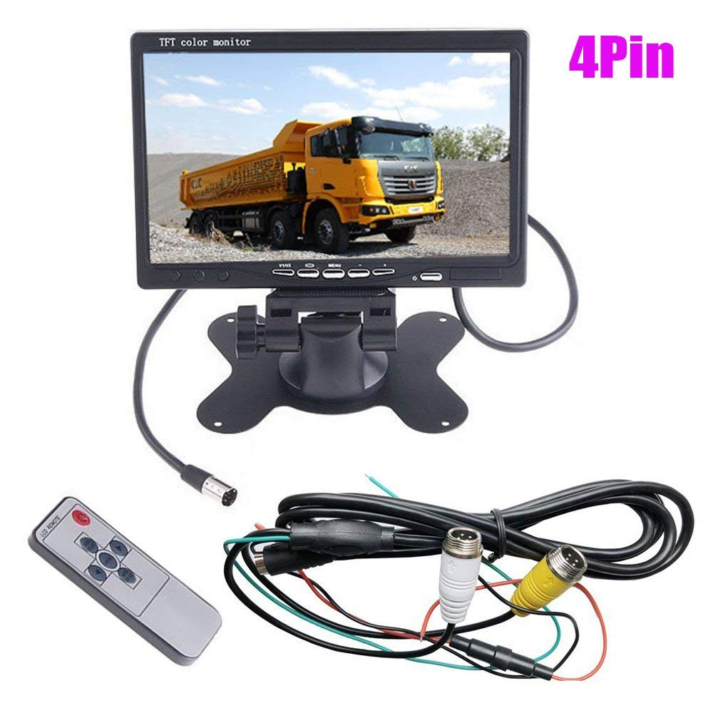 Cheap Bus Monitor 24v Find Deals On Line At Alibabacom Tft Lcd Wiring Get Quotations 4pin 7 Car Rear View Screen 2 Channel Video Input For