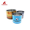 Hot new products round tinplate container can tin tank for oil paint package