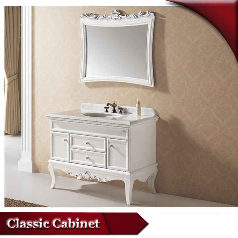 HS-A808 white free standing linen cabinet/ wood bathroom cabinet/ asian style bathroom vanity