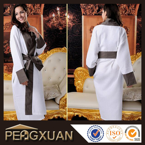promotional luxury waffle fabric hotel unisex robes white
