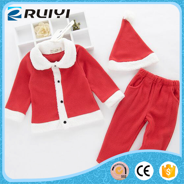 China supplier lamb wool Christmas suits for babys