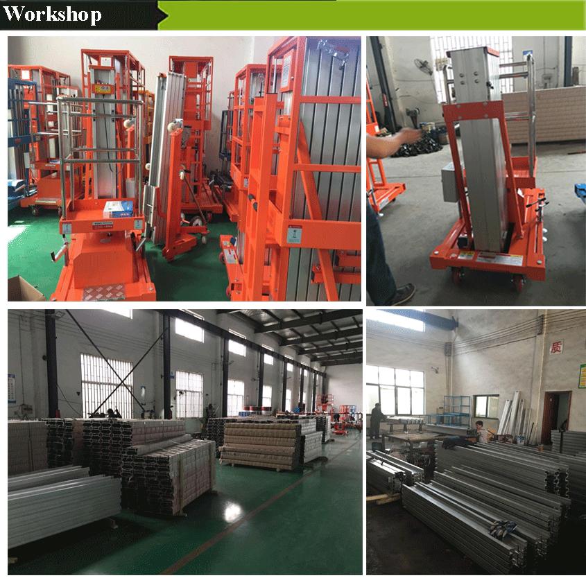 Aluminium Man Lift/Hydraulische Lift Platform