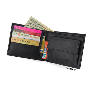 wholesale men's purse real leather moneybag coin purse clasp wallet human leather wallet