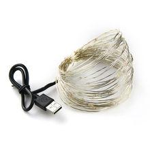 Светодиодная лента 2-10 м 20-100 светодиодная гирлянда сказочного света, наружная гирлянда, Рождественская Свадебная вечеринка, украшение на ба...(Китай)