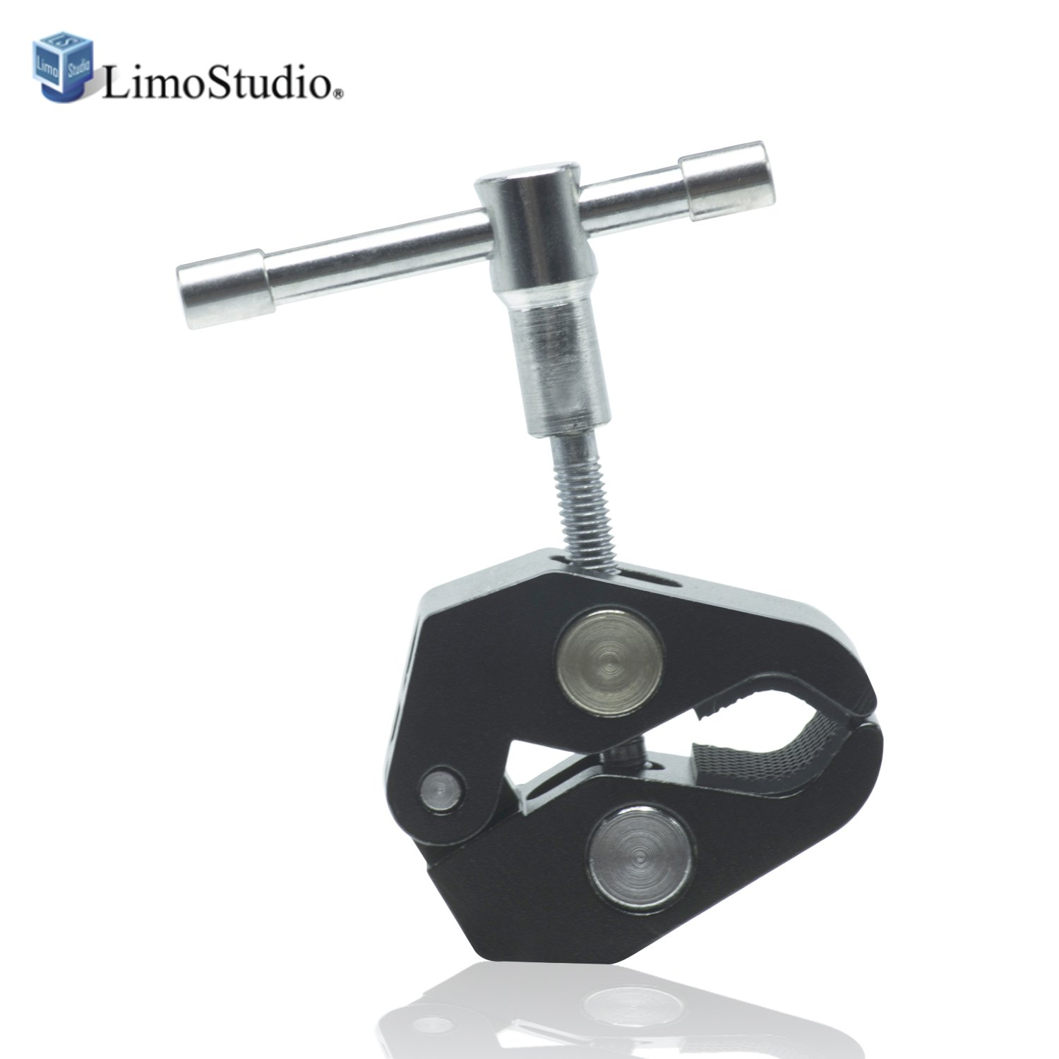 """LimoStudio Super Clamp 1/4"""" & 3/8"""" Threads Rob Clamp Pliers Clip for Cameras, Flash, Monitors, Lights, Rods, Umbrellas, Hooks, Shelves, Cross Bars, Plate Glass, AGG2424"""