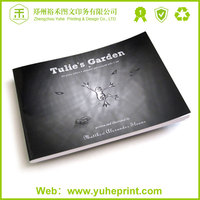 Poplular China manufacturer printing service,soft cover book film lamination digital postcard book printing