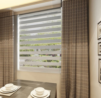 Somfy Motorized Zebra Blinds Day Night Roller Blinds