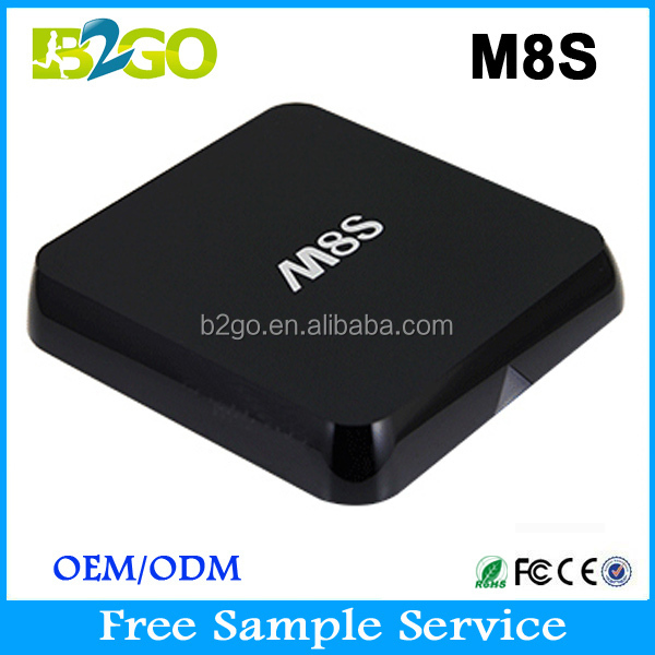 Vente chaude M8S Quad Core 1 gb 8 gb amlogic s812 leadcool iptv arabe iptv android tv box