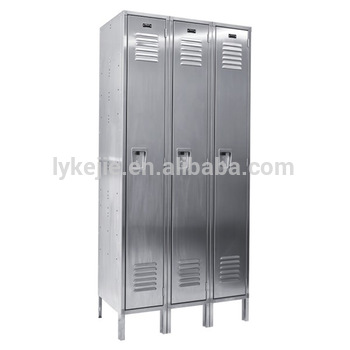 3 Door Vintage Stainless Steel Lockers Metal Sports Changing Room Used  Cupboard Locker for sale. 3 Door Vintage Stainless Steel Lockers Metal Sports Changing Room