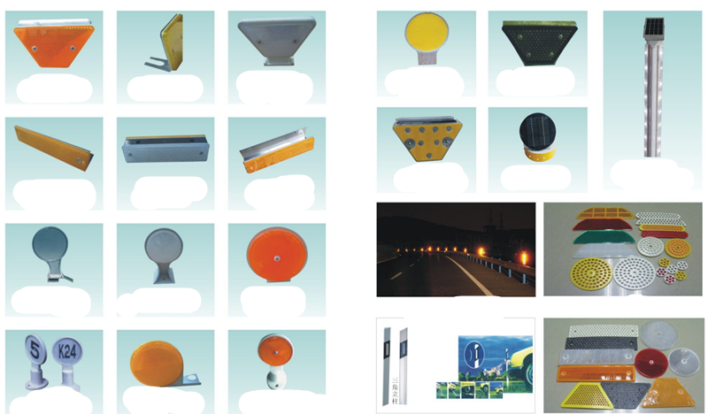 Elegant appearance selling well colorful roadway round plastic road reflector