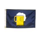 Custom Printing Durable Knitted Polyester Oxford Fabric Marine Boat Flags
