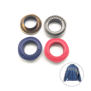 Custom high quality rust proof colored grommet rubber painting 10mm brass eyelet type with tools for clothes