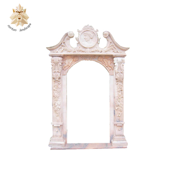 Natural Stone Pink House Marble Door Frame Surround For Sale Ntmd ...