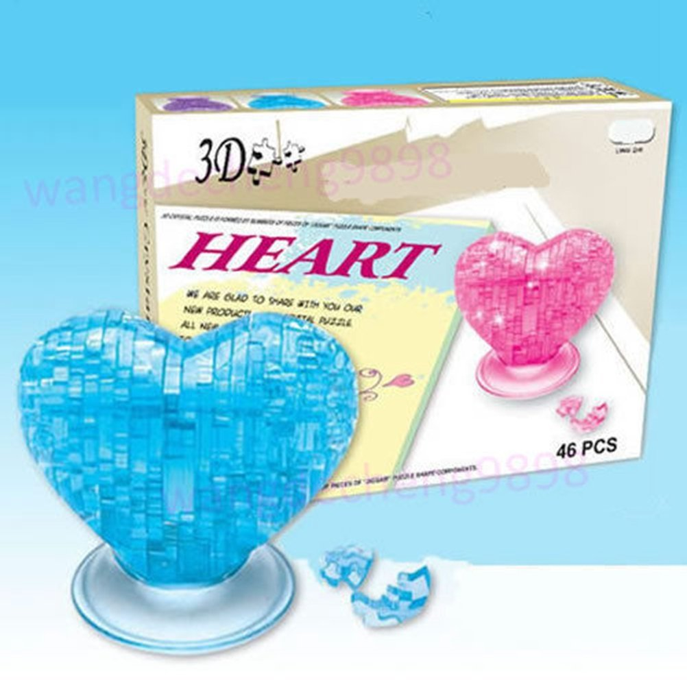 Arich 3D Crystal Puzzle Jigsaw Model Souptoy Gadget Love Heart IQ Toy Furnish DIY Gift