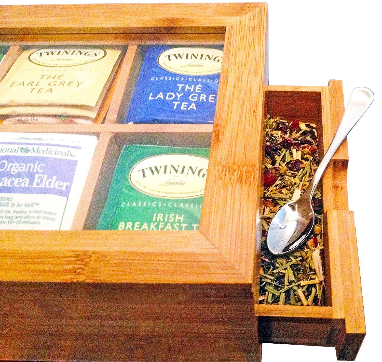 High Quality Bamboo Tea Storage Box BTB-180420015 Details 3