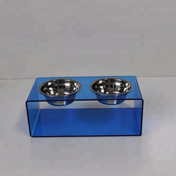factory custom acrylic pet bowls water food feeder
