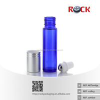 hot selling cobalt blue glass metal roller ball refillable roll on bottle