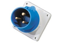 IP44 waterproof panel mounted plug 3P 32A european industrial socket&plug