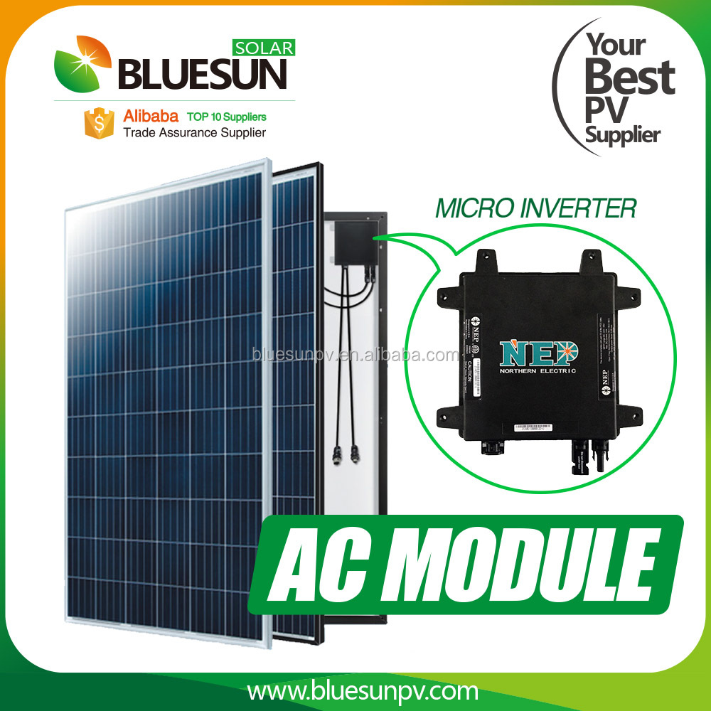 250w 255w 260w 265w Solar panel 220V 230V 240V 120V AC solar panel module with micro inverter