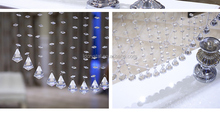 crystal factory directly sale glass wedding DIY decor crystal beads curtain