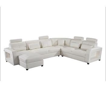 Exceptionnel Neue Moderne Sofa Gesetzt Schnitts U Förmigen Ledersofa Design Für  Wohnzimmer Möbel