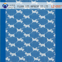 Cotton lace fabric by the yard lace fabric LZ-0557