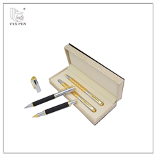 Business gold color gift pen pencil set