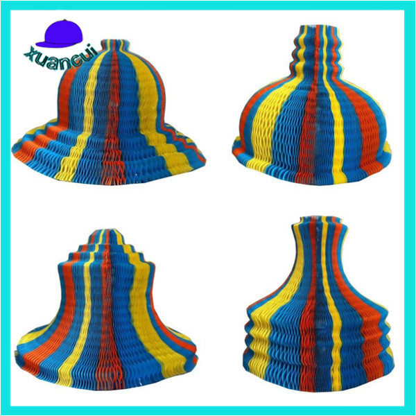 2017 fashion paper straw traveling sun hat customized lady rainbow paper vase hat for sale