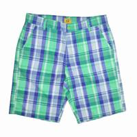 England Style Plaid Classic Check Cargo Shorts For Men