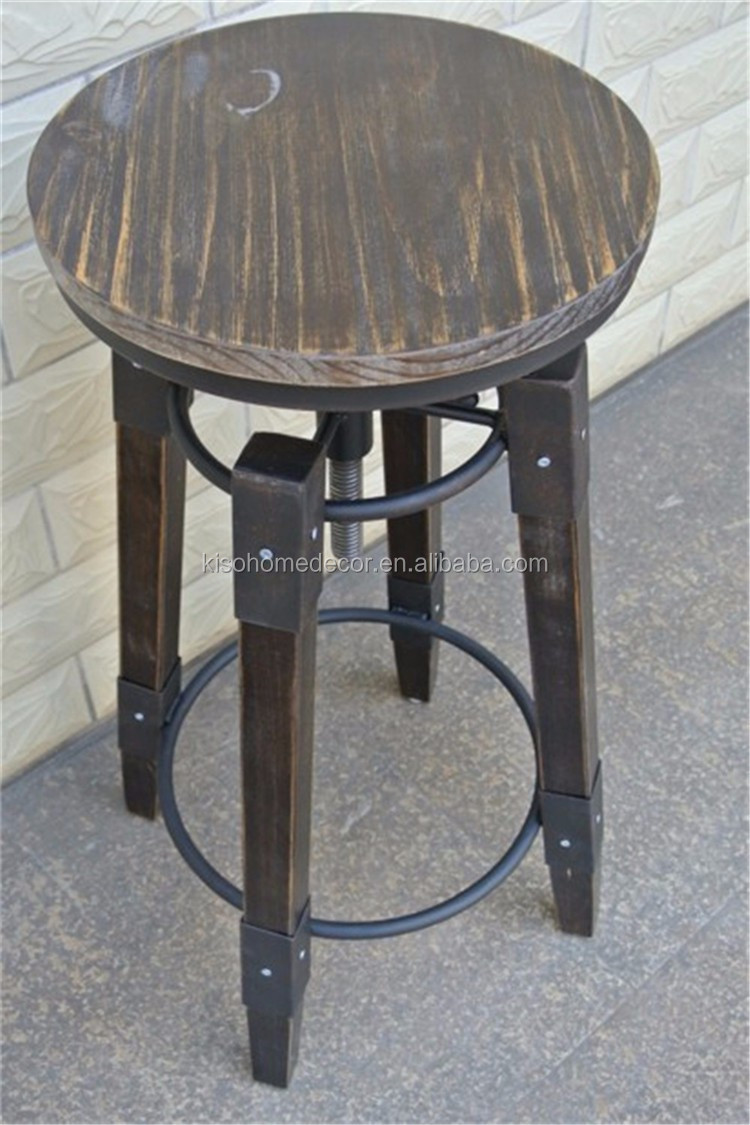 Chaise Fer Forgé Et Bois tabouret de bar en bois massif en fer forgé,tabouret de bar,chaise haute  rotative - buy tabouret de bar,tabouret de bar chaise haute,chaise de  levage